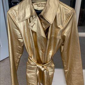 Ralph Lauren gold denim short trench jacket